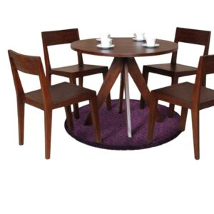 teak round dining table, solid wood furniture
