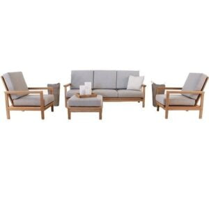 solid teak sofa comfortable for sleeping or relaxing