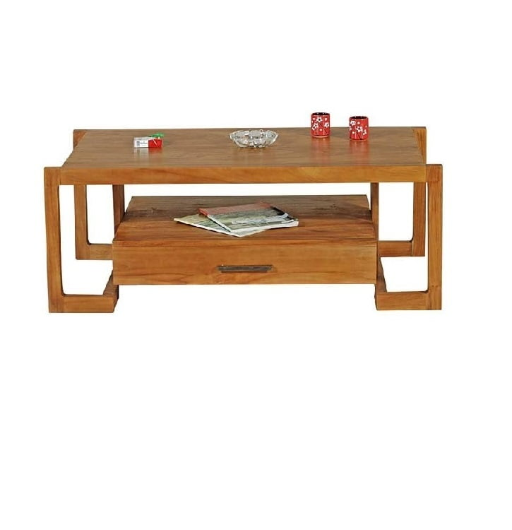 teak wood coffee table with drawer