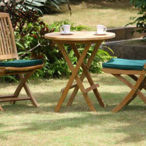 picnic round table chair set