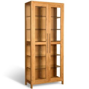 this teak display cabinet Makes for a great showcase, display case furniture