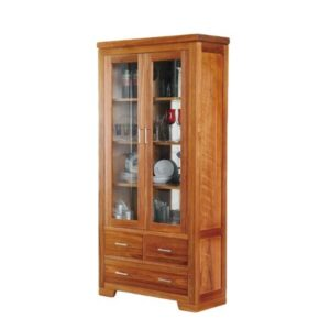 This teak display cabinet made of high quality teak wood from Indonesia
