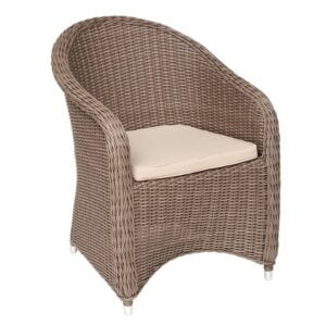 round wicker outdoor chair