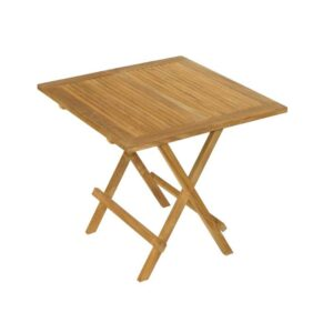 Teak picnic folding table for patio