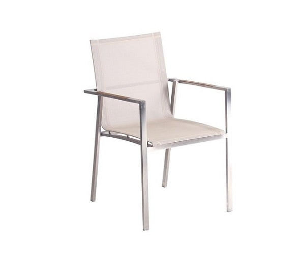 alzette stainless steel batyline sling arm chair