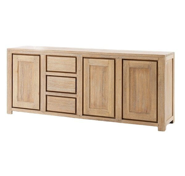 The collection is crafted with hand selected solid Recycled Teak wood from indonesia