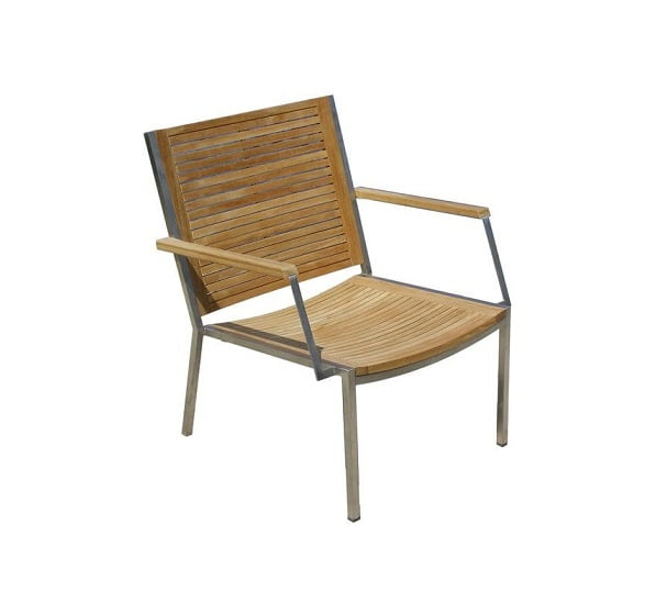 teak stainless outdoor lounge chair