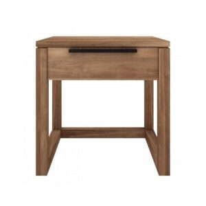 sturdy solid wood teak side table