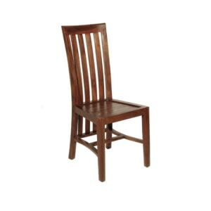 high back teak dining side chair