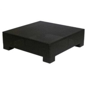 wicker square coffee table
