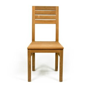 solid teak chair for comfortable dining
