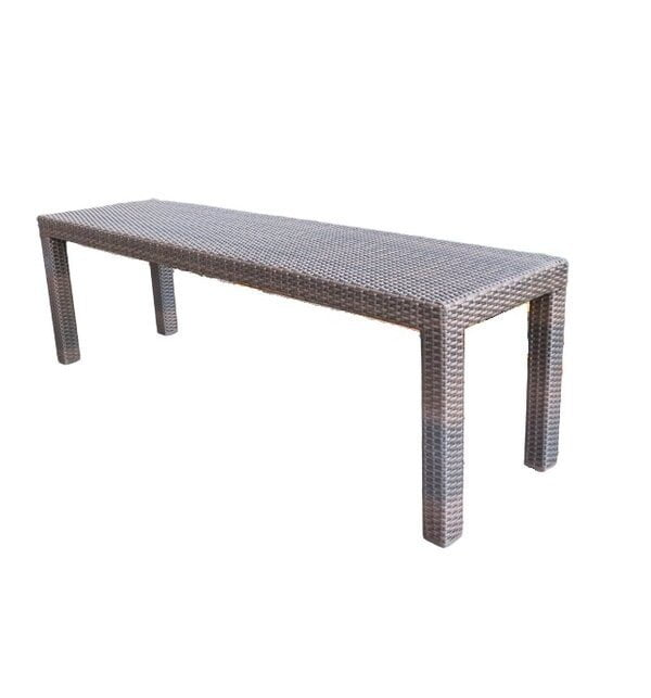 Wicker Backless Bench for outdoor
