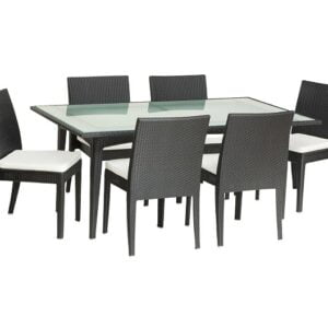 synthetic wicker patio dining set