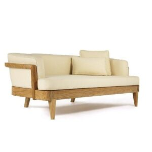 Teak wood Daybed, easily arrange a full size day bed for the patio or the living room
