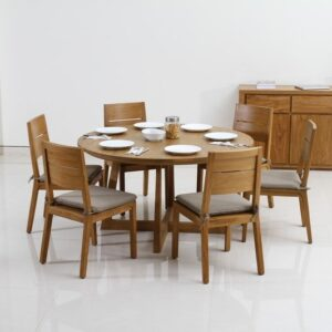 Teak-round-table, Teak dining furniture Shah Alam