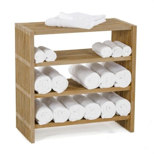 Teak wood towel shelf, Constructed with 100% naturally harvested solid teak and comes in two sizes