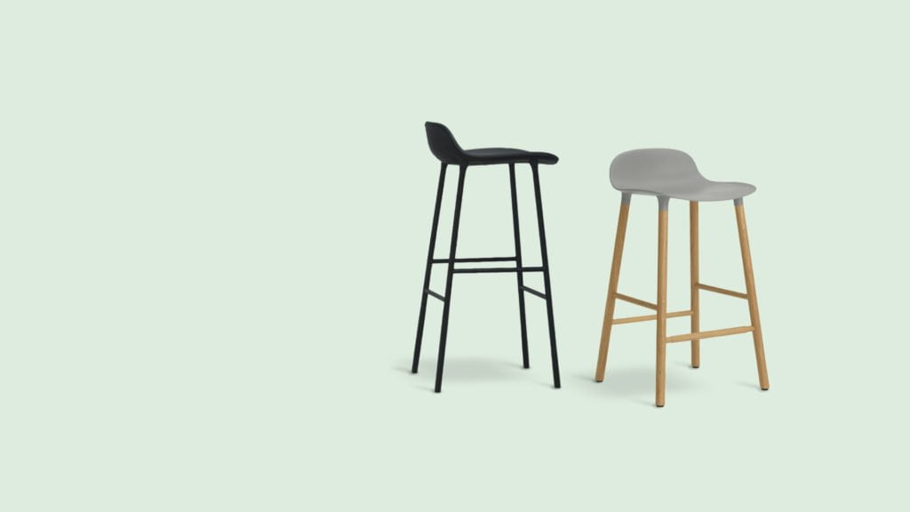 teak wood bar stool for modern living