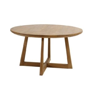 Teak wood round kitchen table