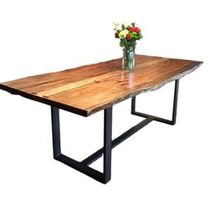 live edge suar dining table