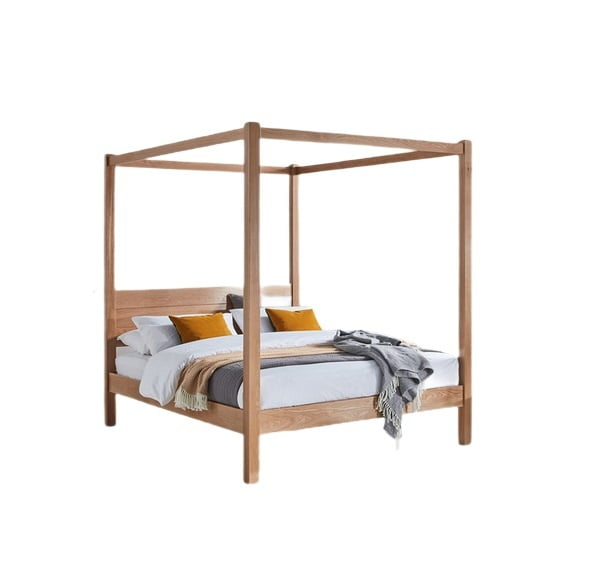 solid wood teak canopy bed