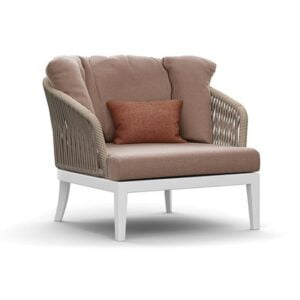 Single seater rope webbing arm chair