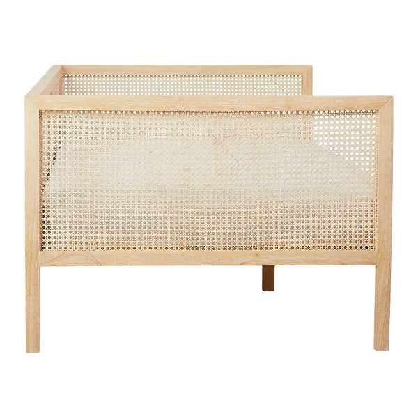 teak/rattan daybed couch